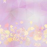 Abstract autumn illustration with maple Leaves. Royalty Free Stock Images