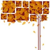 Abstract autumn leaves royalty free stock photos