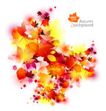 Abstract autumn leaves background. Vector abstract autumn background with a space for your text. Clean and simple style Royalty Free Stock Photography