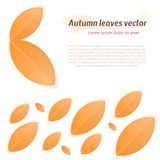 Abstract autumn leaves. Autumn leaves. Design element for autumn mood. Abstract  illustration or background Royalty Free Stock Image