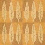 Abstract autumn leaves - seamless background - Interior wallpaper. White Oak wood texture - checkered style Vector Illustration