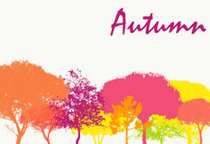 Abstract Autumn Natural Background Vector Stock Foto's
