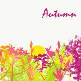 Abstract Autumn Natural Background Vector. Illustration. EPS10 royalty free illustration