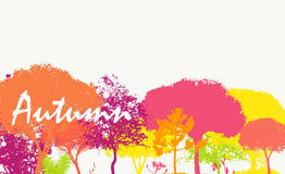 Abstract Autumn Natural Background Vector Stock Images