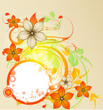 Abstract autumn round banner Royalty Free Stock Image