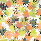 Abstract autumn seamless pattern. Perfect for wallpapers, web page backgrounds, surface textures, textile. Abstract autumn seamless pattern. Perfect for stock illustration