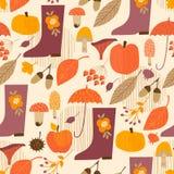 Abstract Autumn Seamless Pattern Vectorachtergrond voor diverse oppervlakte Royalty-vrije Stock Afbeeldingen