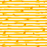 Abstract autumn striped seamless pattern Royalty Free Stock Images