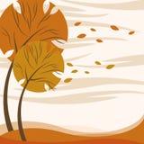 Abstract autumn tree. Abstract style autumn seasond and tree vector royalty free illustration