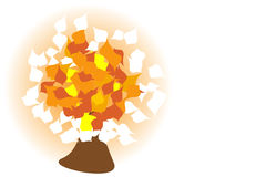 Abstract autumn tree. Illustration Royalty Free Stock Images