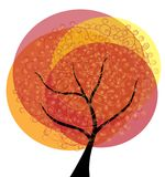 Abstract autumn tree Royalty Free Stock Images