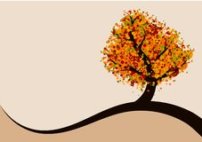 Abstract autumn tree. Autumn background with abstract colorful tree stock illustration