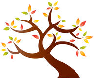 Abstract autumn tree. An abstract drawing of a tree with autumn or fall leaves against White background. Also in vector format royalty free illustration