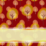 Abstract autumn tree greeting card. Abstract autumn tree seamless pattern greeting card Royalty Free Stock Images