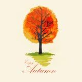 Abstract autumn tree. Illustration of abstract autumn tree stock illustration