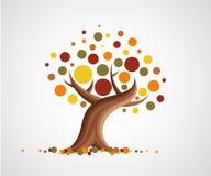 Abstract autumn tree. Abstract illustration of tree in autumn Stock Photography