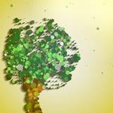 Abstract autumn tree. Abstract tree illustration, autumn background Stock Images