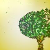 Abstract autumn tree. Abstract tree illustration, autumn background Royalty Free Stock Photo