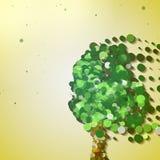 Abstract autumn tree. Abstract tree illustration, autumn background royalty free illustration