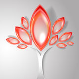 Abstract autumn tree. With red leaves royalty free illustration