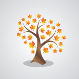 Abstract autumn tree Royalty Free Stock Image