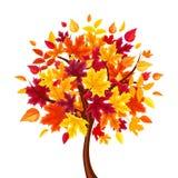 Abstract autumn tree. Vector illustration. Vector abstract autumn tree isolated on a white background royalty free illustration