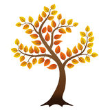 Abstract autumn tree. Vector autumn tree on white background Stock Photo