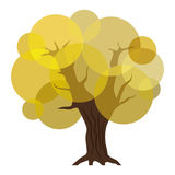 Abstract autumn tree. With yellow leaves. eps10 Stock Photos
