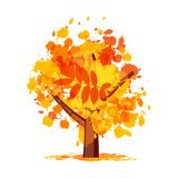 Abstract autumn tree for your design Stock Photography