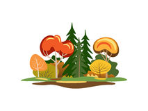 Abstract autumn trees stock illustration