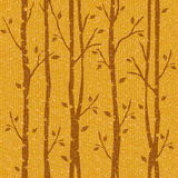 Abstract autumn trees - seamless background - fabric texture. Abstract autumn trees - seamless background - fabric surface stock illustration