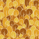 Abstract autumn trees - seamless background - fabric texture. Abstract autumn trees - seamless background - fabric surface royalty free illustration
