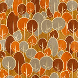 Abstract autumn trees - seamless background - wood texture Royalty Free Stock Photos