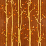 Abstract autumn trees - seamless background - wood texture Royalty Free Stock Photo