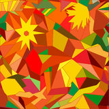 Abstract autumnal background. Abstract mosaic seamless with geometric pattern Royalty Free Stock Image