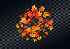 Abstract autumnal background with flying maple leaves. Fall . Abstract autumnal background with flying maple leaves. Fall season greeting card, poster, flyer royalty free illustration