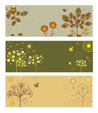 Abstract autumnal banners. Set of abstract autumnal banners Stock Photos