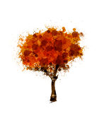 Abstract autumnal tree. Easy editable Royalty Free Stock Photo