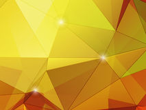Abstract autumnt  polygon mosaic background. Abstract Polygon Background with Autumnal red, green, yellow and brown colours Royalty Free Stock Photo
