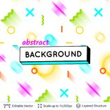 Abstract avangarde retro background. Vector multicolored geometric shapes. Simple light backdrop Royalty Free Stock Images