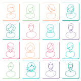 Abstract avatars Stock Images
