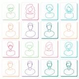 Abstract avatars Royalty Free Stock Photos