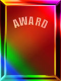 Abstract award background. Colorful abstract background of award frame with copy space royalty free illustration