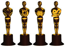 Abstract awards in film Stock Image