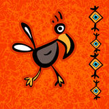 Abstract aztec bird. Royalty Free Stock Images