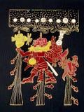 Abstract Aztec god. Abstract illustration of a pagan Aztec god stock photo