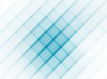 Cerulean cells on white background. Abstract azure-blue checkered pattern, strong in the center, weakening to edges. Raster Royalty Free Stock Image