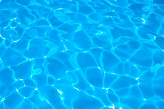 Abstract azure blue water background Stock Image
