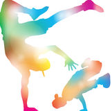 Abstract B-Boy Dancers. Royalty Free Stock Photography