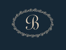 Abstract B  Letter Monogram Elegant Logo Design Stock Image